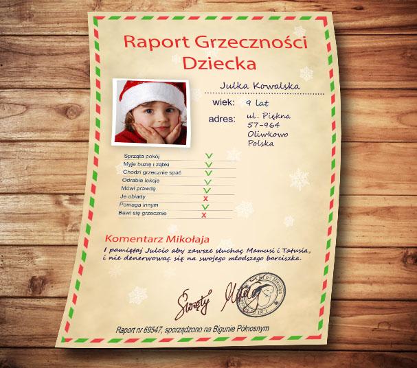 Raport greczności dziecka