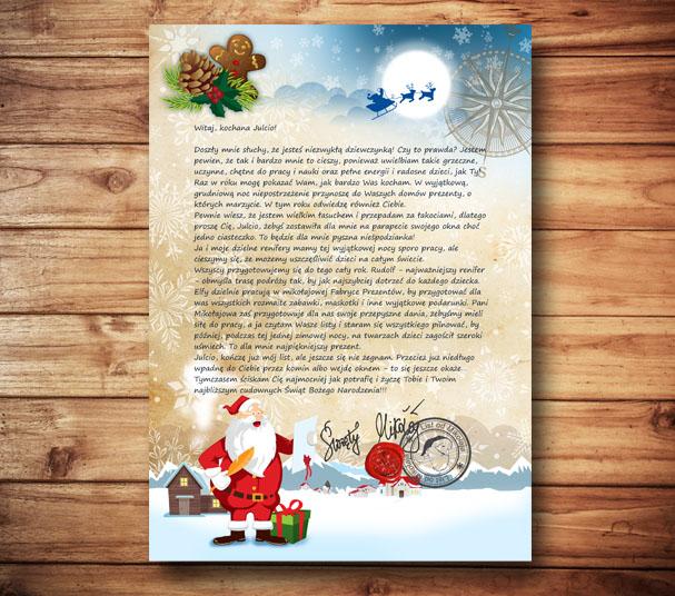 list od Mikołaja
